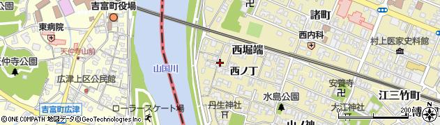 大分県中津市金谷西ノ丁周辺の地図