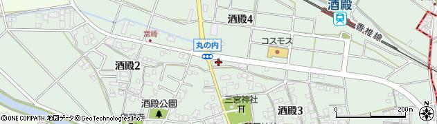 福岡県粕屋町(糟屋郡)酒殿周辺の地図