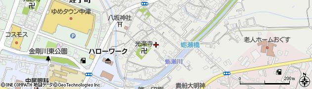 大分県中津市蛎瀬705周辺の地図