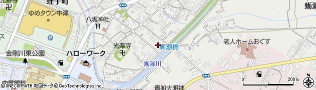 大分県中津市蛎瀬698周辺の地図