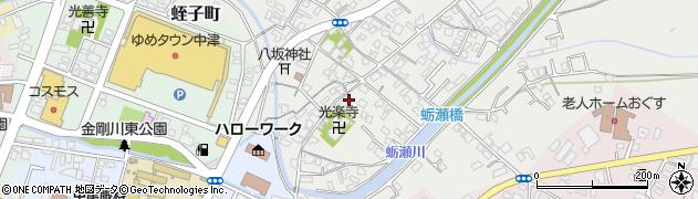 大分県中津市蛎瀬348周辺の地図