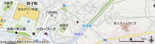 大分県中津市蛎瀬694周辺の地図