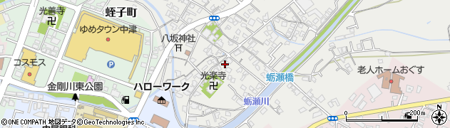大分県中津市蛎瀬686周辺の地図