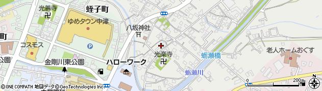 大分県中津市蛎瀬349周辺の地図