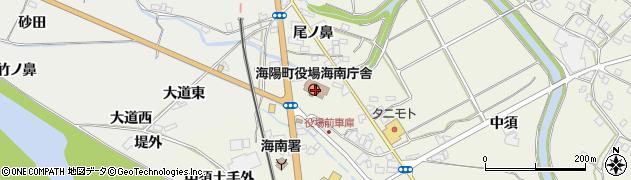 徳島県海部郡海陽町周辺の地図