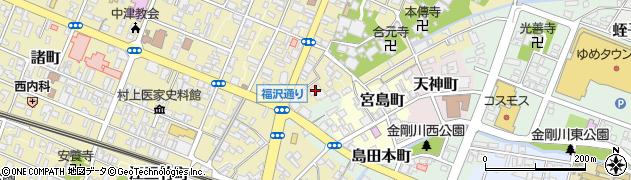 大分県中津市枝町周辺の地図