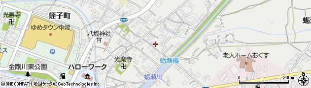 大分県中津市蛎瀬671周辺の地図