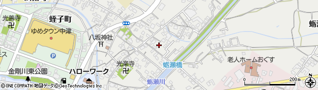 大分県中津市蛎瀬673周辺の地図