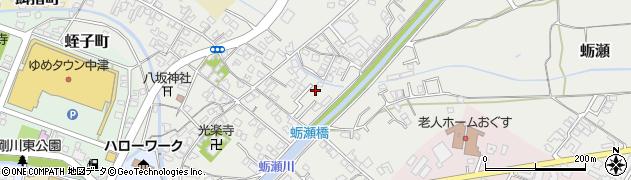 大分県中津市蛎瀬654周辺の地図