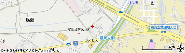 大分県中津市蛎瀬1128周辺の地図