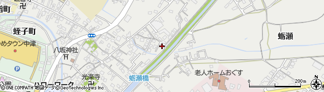 大分県中津市蛎瀬645周辺の地図