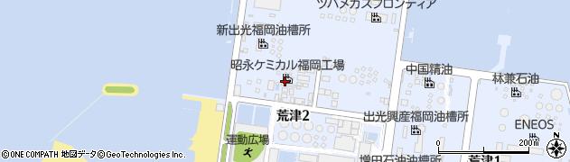 福岡県福岡市中央区荒津周辺の地図