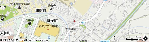 大分県中津市蛎瀬413周辺の地図
