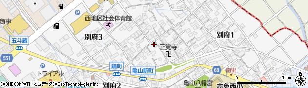 福岡県志免町(糟屋郡)別府周辺の地図