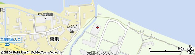大分県中津市大新田492周辺の地図