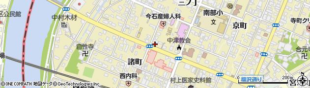 大分県中津市殿町周辺の地図