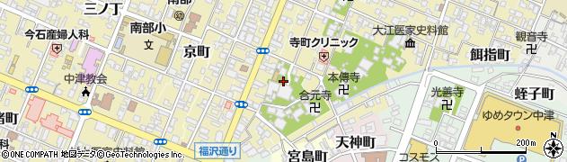 大分県中津市桜町周辺の地図