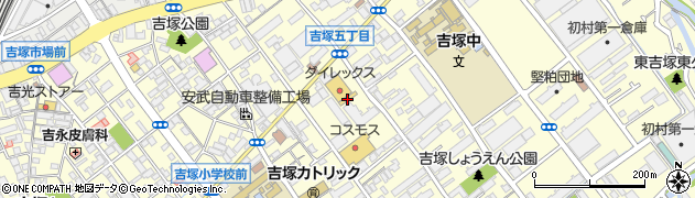 福岡県福岡市博多区吉塚周辺の地図
