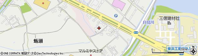 大分県中津市蛎瀬1155周辺の地図