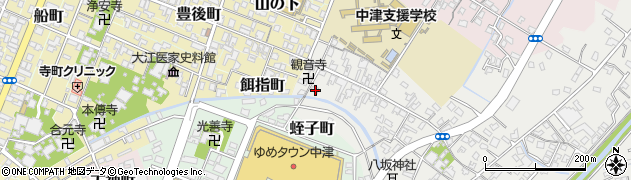 大分県中津市蛎瀬502周辺の地図