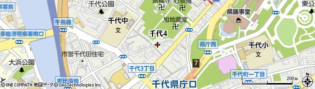 福岡県福岡市博多区千代周辺の地図
