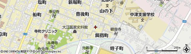 大分県中津市餌指町周辺の地図