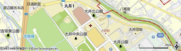 福岡県福岡市博多区大井周辺の地図