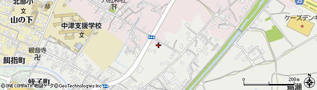 大分県中津市蛎瀬611周辺の地図
