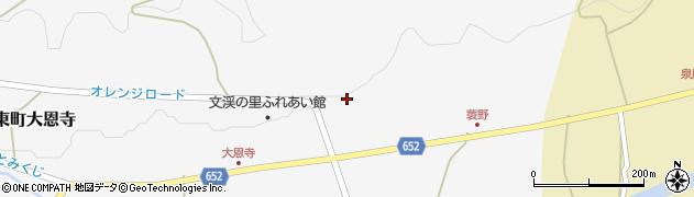 大分県国東市国東町大恩寺448周辺の地図
