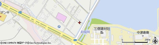 大分県中津市蛎瀬1306周辺の地図