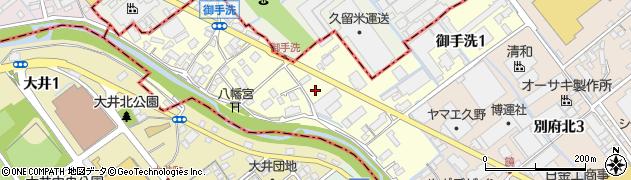 福岡県志免町(糟屋郡)御手洗周辺の地図