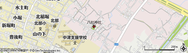 大分県中津市大塚106周辺の地図