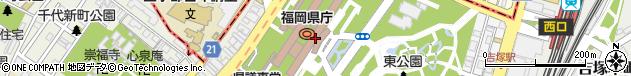 福岡県周辺の地図