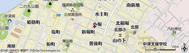 大分県中津市小堀周辺の地図