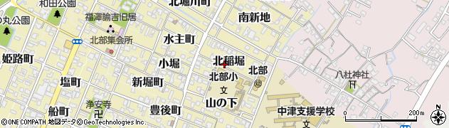 大分県中津市北稲堀周辺の地図