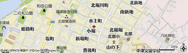 大分県中津市矢場町周辺の地図