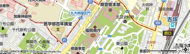 福岡県庁人づくり・県民生活部 スポーツ振興課・スポーツ第一係周辺の地図
