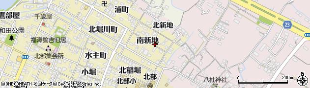 大分県中津市南新地周辺の地図