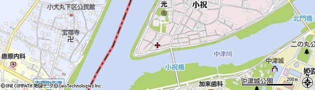 大分県中津市小祝42周辺の地図