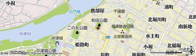 大分県中津市北門通周辺の地図