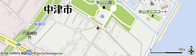大分県中津市蛎瀬1321周辺の地図