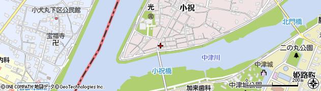 大分県中津市小祝86周辺の地図