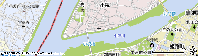 大分県中津市小祝130周辺の地図