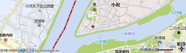 大分県中津市小祝72周辺の地図