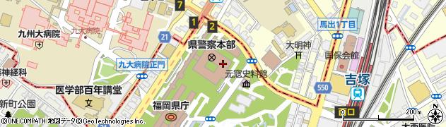 福岡県庁 福祉労働部次長室周辺の地図