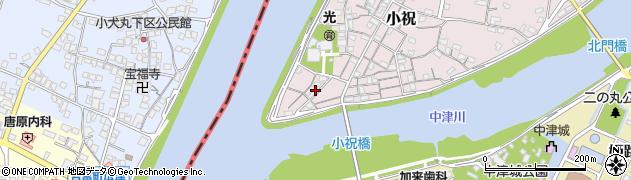 大分県中津市小祝65周辺の地図