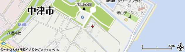 大分県中津市蛎瀬1372周辺の地図
