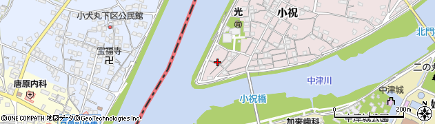 大分県中津市小祝48周辺の地図