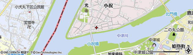 大分県中津市小祝91周辺の地図