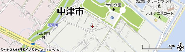 大分県中津市蛎瀬1334周辺の地図